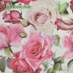 Serwetka do Decoupage ogrodowe róże 1 szt