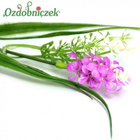 Gałązka dekoracyjna HIACYNT drobne kwiatuszki-FIOLETOWE