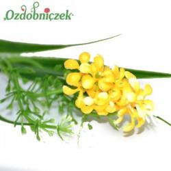 Gałązka dekoracyjna HIACYNT drobne kwiatuszki-ŻÓŁTA
