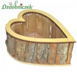 Donica serce drewniana 1szt