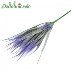 Gałązka dekoracyjna - trawka ozdobna fioletowa 28 cm