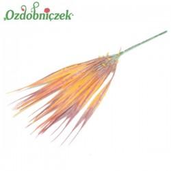 Gałązka dekoracyjna - trawka ozdobna pomarańczowo-czerwona 28 cm
