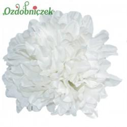 Chryzantema satynowa BIAŁA- główka kwiatowa 14cm