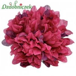 Chryzantema satynowa BORDOWA - główka kwiatowa 14cm