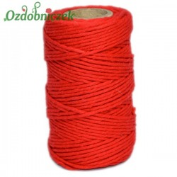 Sznurek bawełniany czerwony 100 g