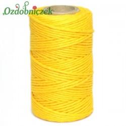 Sznurek bawełniany żółty 100 g