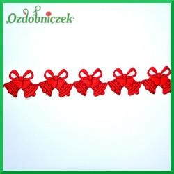 Aplikacje dzwoneczki czerwone z czarną folią