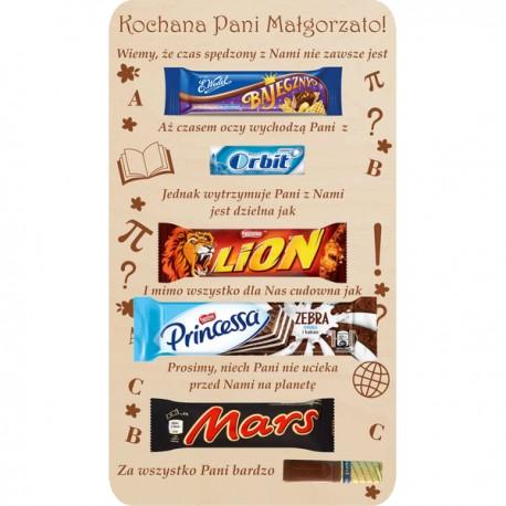 Dyplom dla Taty ze słodyczami - 5 elementów tabliczka pakowanie Gratis