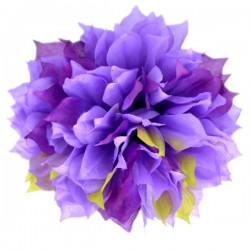Dalia strzępiasta fioletowo-zielona cieniowana - główka kwiatowa 12cm