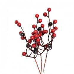 Jagódki czerwono-bordowe 20 szt gałązek