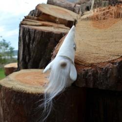 Skrzat ecru 16cm wysoka czapka