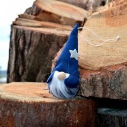 Skrzat ciemny niebieski 16cm wysoka czapka