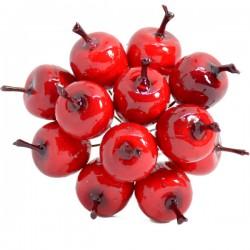 Rajskie jabłuszka czerwone średnie na druciku 12szt.