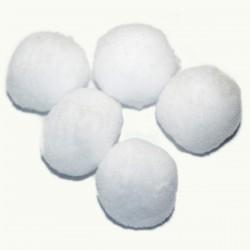 Pompony 50 mm białe /10szt