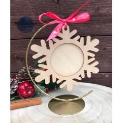 Stojak na bombki świąteczny złoty 15cm  WIESZAK