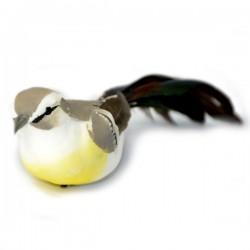 Ptaszek na druciku 9cm - JASNOBRĄZOWY
