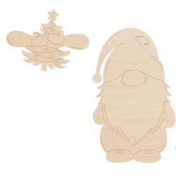 Skrzat - łapki z choinką 10 cm krasnal
