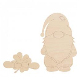 Skrzat - łapki z koniczyną 10 cm krasnal