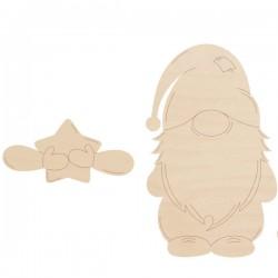 Skrzat - łapki z sercem 10 cm krasnal