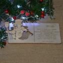 Kartka drewniana na święta życzenia z BAŁWANKIEM + koperta, Twój podpis