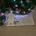 Kartka drewniana na święta życzenia z MIKOŁAJEM + koperta, Twój podpis
