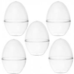 Jajka akrylowa plexi stojące 12cm przeźroczyste składane 5szt
