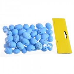 Jajeczka nakrapiane niebieskie 2,5 cm 50szt