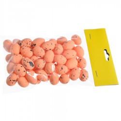 Jajeczka nakrapiane pomarańczowe 2,5 cm 50szt