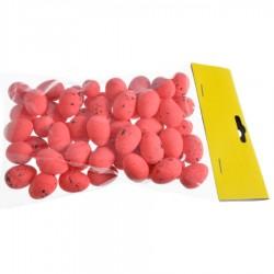 Jajeczka nakrapiane czerwone 2,5 cm 50szt