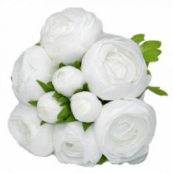 BUKIET PIWONII PEŁNIK 9szt DUŻY białe