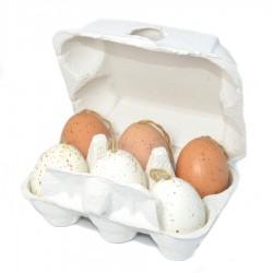 Jajko z zajączkiem stojące drewniane BIAŁE 1 szt -15 cm