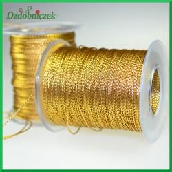 Sznurek metalizowany 1mm/100mb złoty