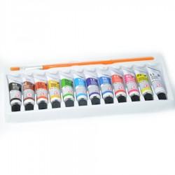 Zestaw farbek temper 12szt mix koloru