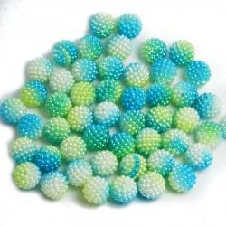 Koraliki perłowe jeżynki 11mm / 60szt