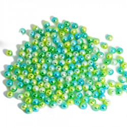 Koraliki cieniowane róż, błękit, krem pastelowe perłowe 8 mm 50g