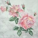 Serwetka do decoupage - pastelowa róża vintage