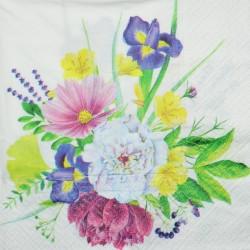 Serwetka do decoupage - pastelowe kwiaty