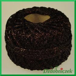 Sznurek brokatowy 2.5mm/50mb brązowy