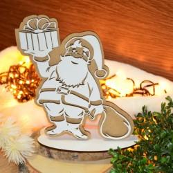 Mikołaj hdf dwustronny ażurowy na podstawce