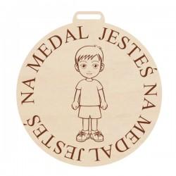 Medal, Sowa z grawerem, pamiątka dla przedszkolaka