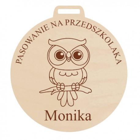 Medal z grawerem JESTEŚ NA MEDAL dla dziewczynki, ze sklejki