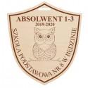 Medal dla absolwenta szkoły podstawowej z grawerem , ze sklejki