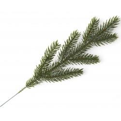 Gałązka ŚWIERKOWA zielona 30cm (6 rozgałęzień)