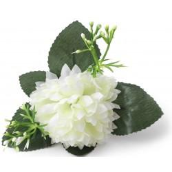 Aster KREM - główka kwiatowa 7cm