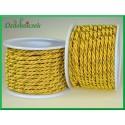 Sznurek 3-żyłowy 3mm/10mb żółto-złoty
