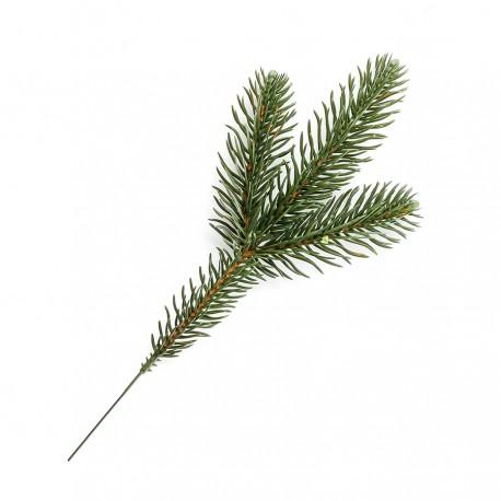 Gałązka ŚWIERKOWA MAŁA zielona 30cm (2 rozgałęzienia)