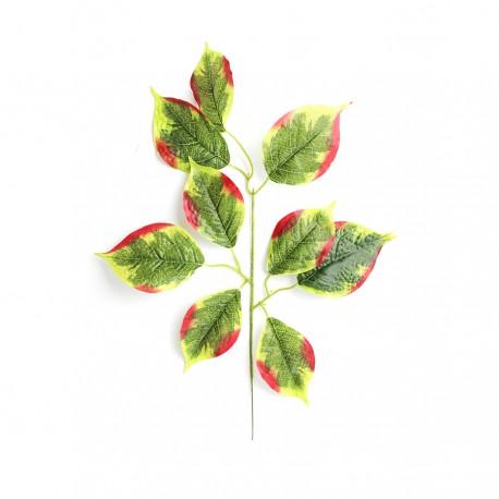 Liść LIPY zielono czerwony 55cm