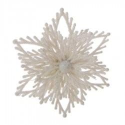 Śnieżynki brokatowe 3D zawieszki 2 sztuki