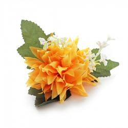 Chryzantema mini żółta - główka kwiatowa 10cm