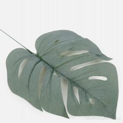 Liść MONSTERY szaro zielony 40cm